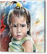 Little Girl From Tahiti Canvas Print