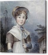 Little Girl In A Quaker Costume Canvas Print