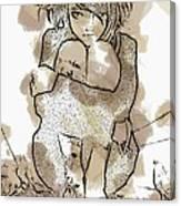 Little Girl Tattoed Canvas Print
