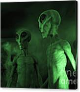 Aliens And Ufo 6 Canvas Print