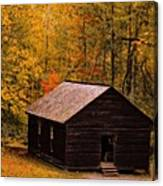 Little Greenbrier Schoolhouse In Autumn  Canvas Print