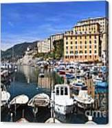 little harbor in Camogli Canvas Print