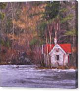Little House On The Lake Canvas Print