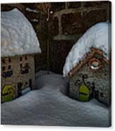 Little Houses Big Snow Canvas Print