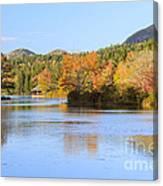 Little Long Pond And Bubbles Mount Desert Island Maine Canvas Print