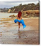 Little Mermaid On Land Canvas Print
