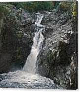 Little Qualicum River Falls Vancouver Island Bc Canvas Print