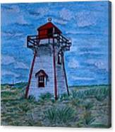 Little Red And White Lighthouse Canvas Print