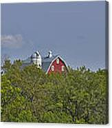 Little Red Barn In The Vale Canvas Print