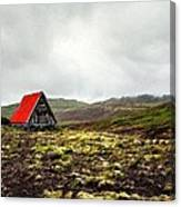 Little Red Cabin Canvas Print