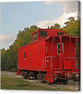 Little Red Caboose Canvas Print