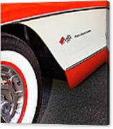 Little Red Corvette Palm Springs Canvas Print