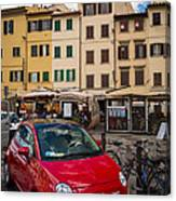 Little Red Fiat Canvas Print