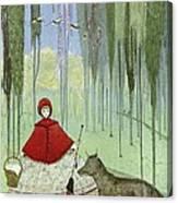 Little Red Riding Hood, Artwork Canvas Print