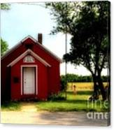 Little Red School House Canvas Print