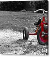Little Red Trike Canvas Print