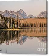 Little Redfish Lake Reflections Canvas Print