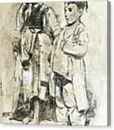 Little Refugees - Greek Orphans Canvas Print