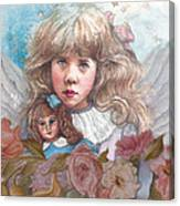 Little Rose Angel Canvas Print