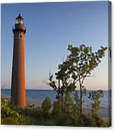 Little Sable Lighthouse By The Shore Canvas Print