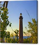 Little Sable Lighthouse Seen Through The Trees Canvas Print
