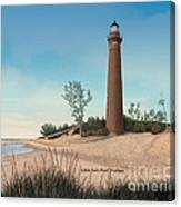 Little Sable Point Lighthouse Titled Canvas Print