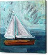 Little Sailboat- Expressionist Painting Canvas Print
