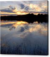 Little Silver Lake Sunset Canvas Print