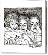 Little Sisters Canvas Print