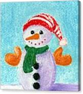 Little Snowman Canvas Print