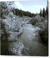 Little Spokane River Beauty Canvas Print