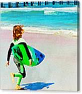 Little Surfer Dude Canvas Print