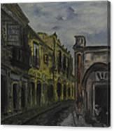 Little Town Corner Canvas Print