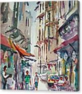 Little Trip At Exotic Streets In Istanbul Canvas Print