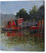 Little Tugs In Holland Michigan Canvas Print