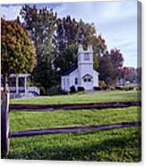 Little Village Chapel Of The Immanuel Lutheran Church Canvas Print