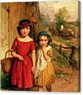 Little Villagers Canvas Print