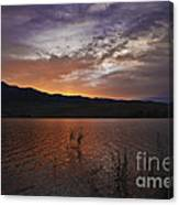 Little Washoe Sunset Canvas Print