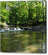 Little Waterfall At Green Lane Pa. Canvas Print