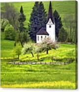 Little White German Church Canvas Print