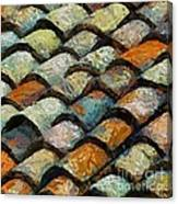 Littoral Roof Tiles Canvas Print