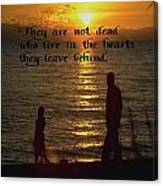 Live In The Heart Canvas Print