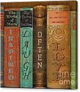 Live-laugh-love-books Canvas Print