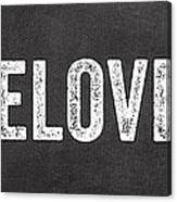 Live Love Eat Canvas Print