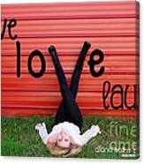 Live Love Laugh By Diana Sainz Canvas Print
