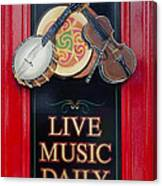 Live Music Daily Canvas Print