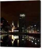 Liverpool Docks At Night Canvas Print
