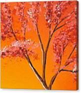 Living Loving Tree Top Right Canvas Print