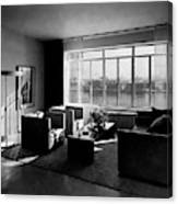 Living Room In The Ny Home Of Edward M. M Canvas Print