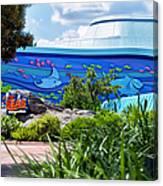 Living Seas Signage Walt Disney World Canvas Print